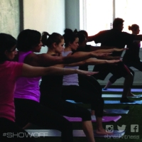 brash fitness yoga warrior BURNflow